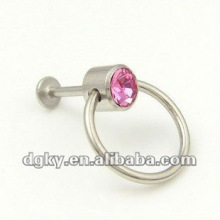 Lip piercing body jewelry piercing Diamond Labret ring