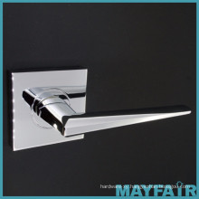 Square Plate Satin Chrome Zinc Alloy Door Handles