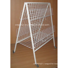 Double Sides Floor Standing Newspaper Rack (PHY3002)