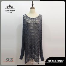 Lady Fashion Long Oversized Sweater Dress