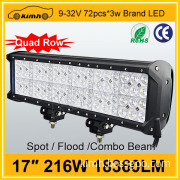 Hot automobile 18360LM 216W acrylic led light bar