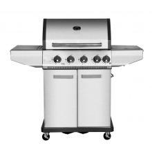 4 Burner Gas BBQ Grill with Side Burner