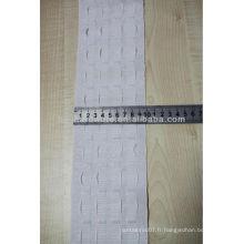 Ruban à rideau plissé à rayures de 10 cm, ruban à rideaux en polyster