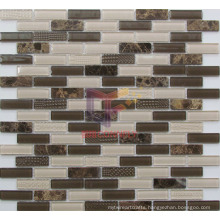 Strip Marble and Crystal Mosaic Tile (CFS660)