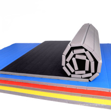 xpe foam cheerleading grappling dummy sports mats flexi roll pvc surface tatami pattern xpe foam mats BJJ wrestling