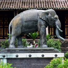Esculturas de animales de jardín elefante de cobre bronce de metal artesanal para estatua
