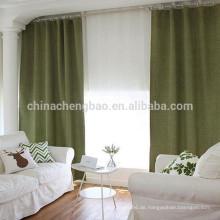 Plain Linen Blackout Vorhang Material