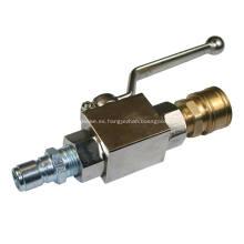 Válvula de bola de presión limpiador