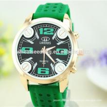 Grande dial pulseira de borracha digital barato barato relógios de silicone