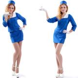 Sexy Dress Carnival Airline Stewardess Hostess Uniform Costume