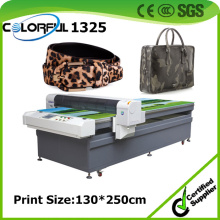 Guangzhou Supplier Excellent Print Effect Corium Leather Flatbed Digital Printing Machinery (colorful 1325)