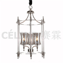 Glass Pendant Light with Nickel Plating (SL2247-3)