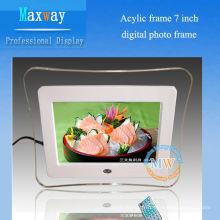 Cadre photo numérique 7 pouces de cadre acrylique