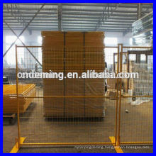 galvanized and PVC, PE coated welded wire mesh infilling temporary fence