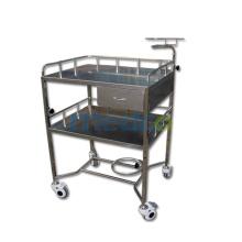 T004 Chariots en urgence médicaux chariot en acier inoxydable