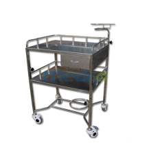 T004 Medical emergency trolley instruments stainless steel trolley