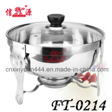Stainless Steel Glass Lid Curry Pot (FT-0214)