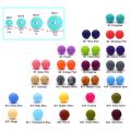 Contas de silicone redondas soltas para fazer você mesmo