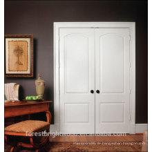 Hölzerne Doppeltür des einfachen Haupttürdesigns weiße