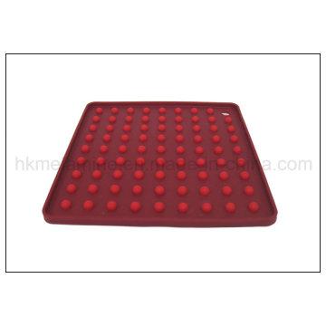 Квадратный противоскользящий силиконовый подставка (RS27)