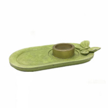 Modern Nordic Plated Candlesticks Holder Green candle holder Candle Tray For Home Decoration