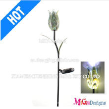Solar LED Lights New Style Glass Flower Pathway Garden Stakes