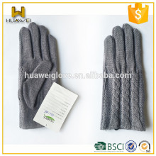 winter fashion girls 100% polyester knitted gloves