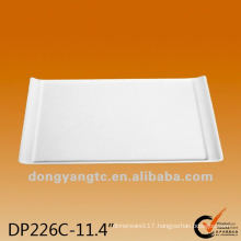 11.4 Inch wholesale white square bulk ceramic serving platters
