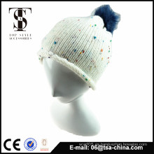Unisex moda diseño personalizado Pom pom knit tapa y sombrero