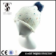Unisex moda design personalizado Pom pom malha boné e chapéu