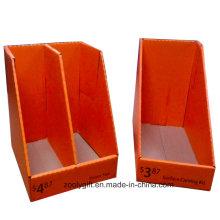 Kundenspezifische bedruckte Papieranzeige Wellpappe mit Teiler