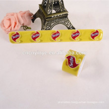 airplane advertising pvc slap snap bracelet