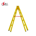 hot sale Fiberglass insulation double 4 step ladder with safety rail