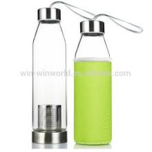 Handblown Clear Pequeñas botellas de vidrio para bebidas carbonatadas