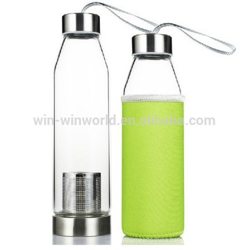 Handblown Clear Small Glass Bottles For Carbonated Drinks