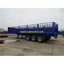3 Axle 30ton Box Cargo نصف مقطورة
