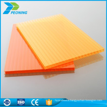 China plastic panels products unbreakable single wall crystal polycarbonate sheet for carport