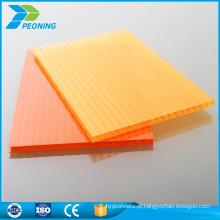 Produtos de painéis plásticos de China folha de policarbonato de cristal de parede única inquebrável para carport