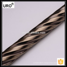 URO factory curtain rod wholesale, curtain rod diy, twist curtain rod