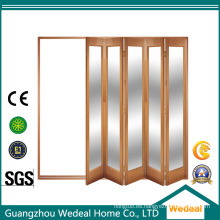 Puerta interior de madera maciza Bifolding Puerta de 4 paneles para proyecto residencial