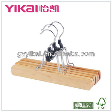 Natural wooden multi clothes hanger with good quality with reasonable price
