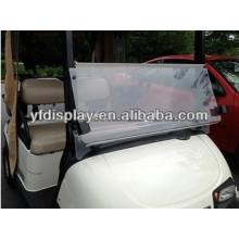 Pare-brise acrylique de pliage de vente chaude vers le bas pour la voiture de golf