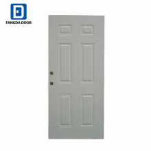 Fangda classic design Primed White 6 Panel Steel Door