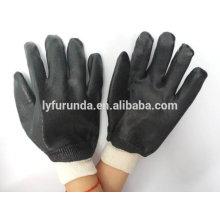 Vollbeschichtete Einhand-PVC-Arbeitshandschuhe mit rauem Finish