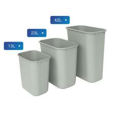 Poubelle plastique carrée pour petit / moyen / large