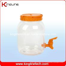 2500ml jarra de agua de plástico BPA al por mayor libre con Spigot (KL-8008)