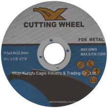 Disco de corte abrasivo general de alta calidad para metal