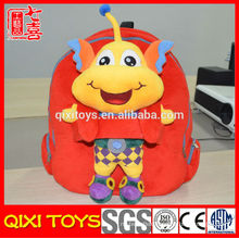 Kids school plush animal backpacks with removable toy