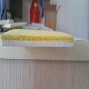 Courroies de carton ondulées non tissées de bord jaune de téflon