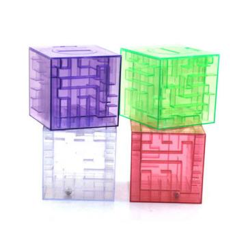 fábrica nuevo diseño rompecabezas alcancía interesante rompecabezas caja de dinero